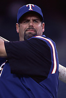 Ken Caminiti of the Texas Rangers during a 2001 season MLB game at Angel Stadium in Anaheim, California. (Larry Goren/Four Seam Images)
