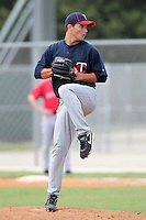 Minnesota Twins pitcher Matt Summers #92 during an Instructional League game against the Boston Red Sox at Red Sox Minor League Training Complex in Fort Myers, Florida;  October 3, 2011.  (Mike Janes/Four Seam Images)
