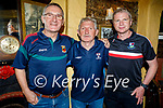 Mayo and Dublin suppoerters stand together after the match in Sean Og's on Saturday, l to r: Gerry O'Mahoney (Mayo), Ger McGrattan from Dublin and Damien Ginty (Tralee).