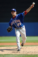 Auburn Doubledays pitcher Nick Lee (29) during game against the Staten Island Yankees at Richmond County Bank Ballpark at St.George on August 2, 2012 in Staten Island, NY.  Auburn defeated Staten Island 11-3.  Tomasso DeRosa/Four Seam Images