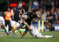 Photo: Richard Lane/Richard Lane Photography. London Wasps v Exeter Chiefs. Aviva Premiership. 21/04/2013 Wasps' Christian Wade attacks.