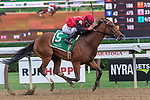 September 05, 2020: Frank's Rockette #5, ridden by Junior Alvarado, trained by William Mott wins the Prioress S. on Woodward Stakes day at Saratoga Race Course in Saratoga Springs, New York. Rob Simmons/CSM