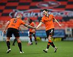 13.12.2020 Dundee Utd v Rangers: Liam Smith celebrates his goal for Dundee Utd with Mark Connolly