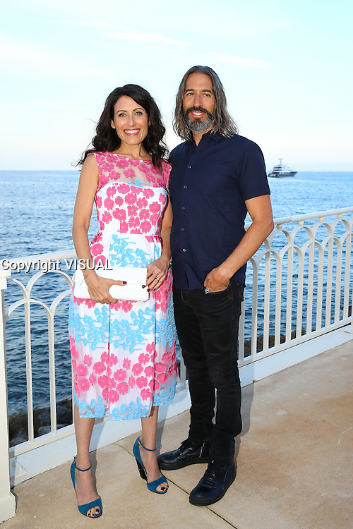 - NO TABLOIDS, NO WEB - 13/06/2016'TV Series' Party at the Monte-Carlo Bay Hotel and Resort during the 56th Monte-Carlo Television Festival. Lisa Edelstein and husband Robert Russell.
