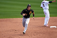 Pittsburgh Pirates Tony Wolters (93) running the bases during a Major League Spring Training game against the Minnesota Twins on March 16, 2021 at Hammond Stadium in Fort Myers, Florida.  (Mike Janes/Four Seam Images)