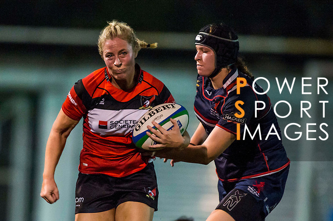 Societe Generale Valley Red Ladies XV vs Bloomberg HK Scottish Kukris during the HKRFU Womens National League 1 2014 at the Kings Park on 22 November 2014 in Hong Kong, China. Photo by Aitor Alcalde / Power Sport Images