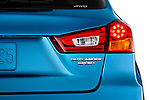 Tail light close up detail view of a 2011 Mitsubishi Outlander Sport SE. Use as one frame of a four frame animation sequence illustrating the tail liht options.