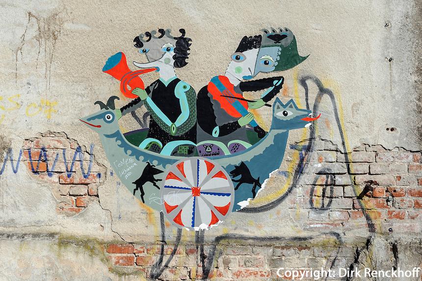 Graffiti in Kaunas, Litauen, Europa