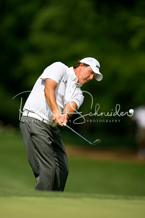 Golfer Phil Mickelson works the course during the Quail Hollow Championship golf tournament 2009. The event, formerly called the Wachovia Championship, is a top event on the PGA Tour, attracting such popular golf icons as Tiger Woods, Vijay Singh and Bubba Watson. Photo from the third round in the Quail Hollow Championship golf tournament at the Quail Hollow Club in Charlotte, N.C., Saturday, May 02, 2009.
