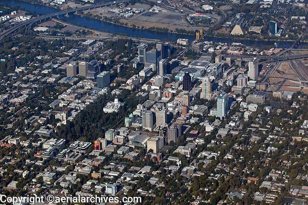 aerial photograph of Sacramento, California