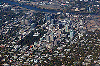 aerial photograph of Sacramento, California