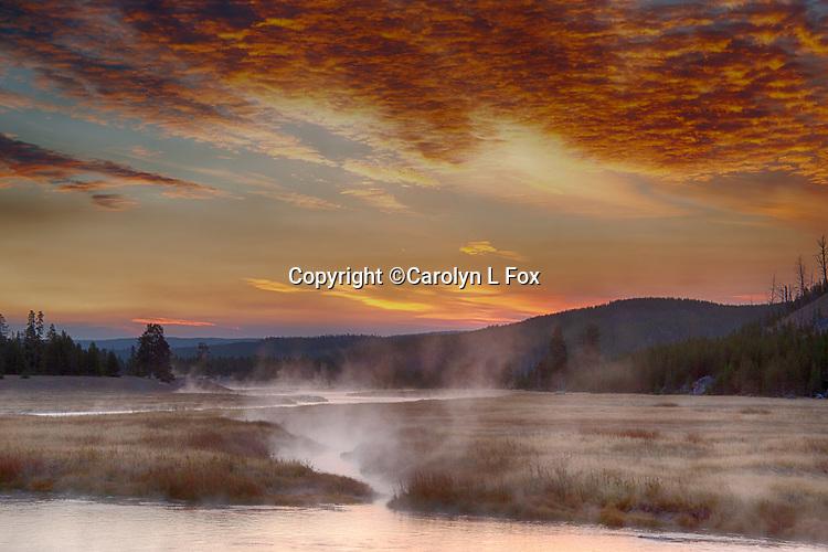 Yellowstone Sunrise's are beautiful.