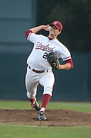 Stanford, CA - Friday, March 1, 2013: Stanford Cardinal pitcher Mark Appel delivers a pitch during the NCAA baseball game against the Texas Longhorns.