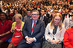 © Joel Goodman - 07973 332324 . 28/09/2016 . Liverpool , UK . DIANE ABBOTT , ROSIE WINTERTON , TOM WATSON and CAT SMITH sit for the Leader's Speech at the close of the final day of the Labour Party Conference at the ACC in Liverpool . Photo credit : Joel Goodman