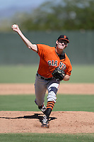 San Francisco Giants pitcher Pat Young (63) during an instructional league game against the Oakland Athletics on September 27, 2013 at Papago Park Baseball Complex in Phoenix, Arizona.  (Mike Janes/Four Seam Images)