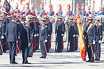King Felipe VI of Spain  receive president of Portugal Marcelo Rebelo de Sousa at the Royal Palace in Madrid, Spain. April 16, 2018. (ALTERPHOTOS/Borja B.Hojas)
