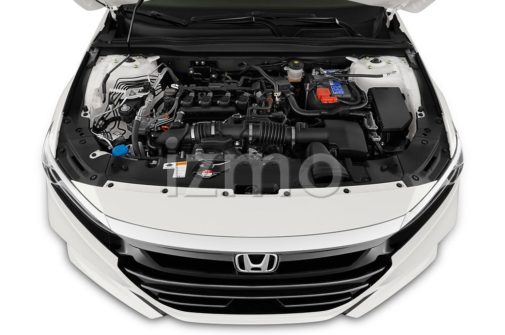 High angle engine detail of a 2021 Honda Accord Sedan Sport SE 4 Door Sedan