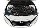 Car Stock 2021 Honda Accord-Sedan Sport-SE 4 Door Sedan Engine  high angle detail view