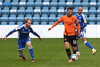 James Henry of Oxford United in action as Gillingham's Connor Ogilvie looks on during Gillingham vs Oxford United, Sky Bet EFL League 1 Football at the MEMS Priestfield Stadium on 10th October 2020