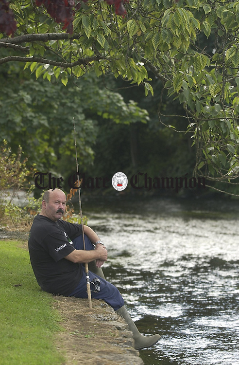 Christy Tobin of the Angling Club at the O Garney River...Photograph by John Kelly...