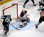 December 14, 2019: Amanda Kessel [#28] scores the go-ahead-goal as Team USA defeated Canada 4-1. The feisty opening game of a five-match series took place at the XL Center in Hartford, Connecticut. Cohen/Eclipse Sportswire/CSM