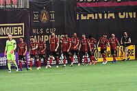 ATLANTA, GA - AUGUST 29: Atlanta United's starters during a game between Orlando City SC and Atlanta United FC at Marecedes-Benz Stadium on August 29, 2020 in Atlanta, Georgia.
