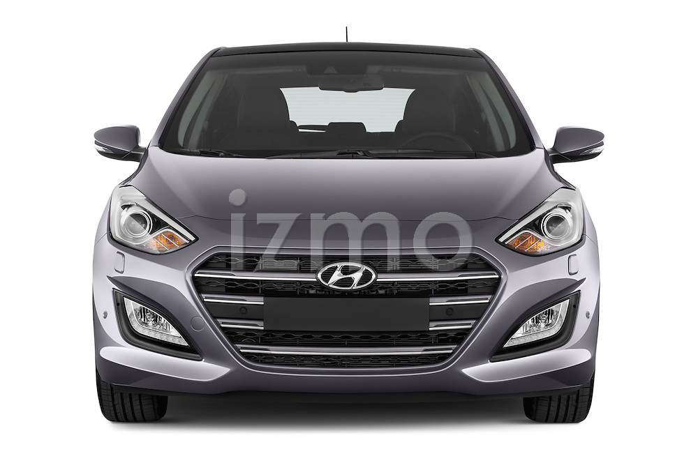 Car photography straight front view of a 2015 Hyundai I30 Joy 5 Door Hatchback