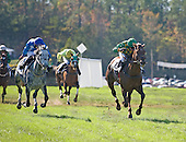Farah T Salute (r) leads The Manner Born to wire in the Crown Royal Stakes at Callaway.