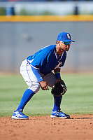 Kansas City Royals Ricky Aracena (3) during an Instructional League game against the Cleveland Indians on October 11, 2016 at the Cleveland Indians Player Development Complex in Goodyear, Arizona.  (Mike Janes/Four Seam Images)
