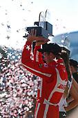 2017 Verizon IndyCar Series<br /> Toyota Grand Prix of Long Beach<br /> Streets of Long Beach, CA USA<br /> Sunday 9 April 2017<br /> Sebastien Bourdais celebrates on the podium<br /> World Copyright: Phillip Abbott/LAT Images<br /> ref: Digital Image lat_abbott_lbgp_0417_15040