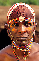 Maasai tribe people in traditional attire, Kenya Africa
