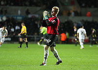 Pictured: Alan Tate of Swansea City in action <br /> Re: Coca Cola Championship, Swansea City Football Club v Queens Park Rangers at the Liberty Stadium, Swansea, south Wales 21st October 2008.