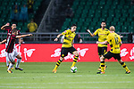 Borussia Dortmund Defender Marc Bartra (C) in action during the International Champions Cup 2017 match between AC Milan vs Borussia Dortmund at University Town Sports Centre Stadium on July 18, 2017 in Guangzhou, China. Photo by Marcio Rodrigo Machado / Power Sport Images