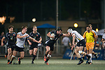 King's College at UQ vs Kir Club Pyrenees during the Plate Final as part of the GFI HKFC Rugby Tens 2017 on 06 April 2017 in Hong Kong Football Club, Hong Kong, China. Photo by Marcio Rodrigo Machado / Power Sport Images