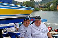 "Jim LaBrie and father Ray LaBrie, GP-111 ""Advance United"" (1980 Grand Prix class Lauterbach hydroplane)"