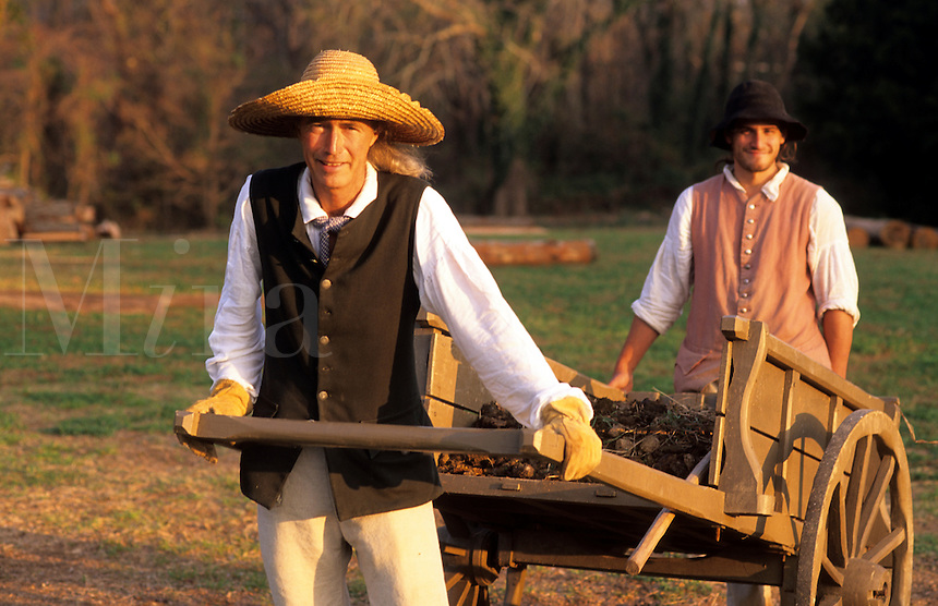 Historical renactment of Colonial life in America, Williamsburg, Virginia.