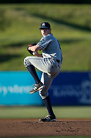 Asheville Tourists starting pitcher Brandon Gold (18) in action against the Kannapolis Intimidators at Kannapolis Intimidators Stadium on May 8, 2017 in Kannapolis, North Carolina.  The Tourists defeated the Intimidators 7-5.  (Brian Westerholt/Four Seam Images)
