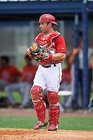 GCL Nationals catcher CJ Picerni (44) during a game against the GCL Astros on August 14, 2016 at the Carl Barger Baseball Complex in Viera, Florida.  GCL Nationals defeated GCL Astros 8-6.  (Mike Janes/Four Seam Images)
