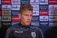 Pontus Wernbloom of PAOK during training and press conference at Stamford Bridge, London