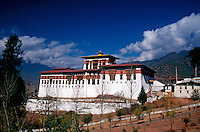 Paro Dzong Buddhist monastery and fortress in Bhutan.
