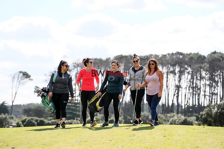 She Loves Golf Campaign Shoot, Muriwai Links Golf Course, Muriwai, Auckland, New Zealand, Sunday 12 August 2018. Photo: Simon Watts/www.bwmedia.co.nz