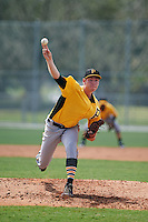 Pittsburgh Pirates Nick Hutchings (91) during an instructional league intrasquad black and gold game on September 23, 2015 at Pirate City in Bradenton, Florida.  (Mike Janes/Four Seam Images)