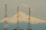 Powerlines and Mount Hood, Oregon