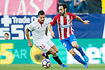 Juan Francisco Torres Belen, Juanfran (r), of Atletico de Madrid fights for the ball with Victor Machin Perez, Vitolo, of Sevilla FC during their La Liga match between Atletico de Madrid and Sevilla FC at the Estadio Vicente Calderon on 19 March 2017 in Madrid, Spain. Photo by Diego Gonzalez Souto / Power Sport Images