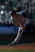 Hudson Valley Renegades starting pitcher Matt Sauer (35) in action against the Greensboro Grasshoppers at First National Bank Field on September 2, 2021 in Greensboro, North Carolina. (Brian Westerholt/Four Seam Images)