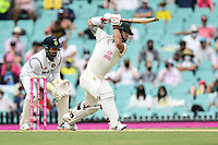 8th January 2021; Sydney Cricket Ground, Sydney, New South Wales, Australia; International Test Cricket, Third Test Day Two, Australia versus India; Matthew Wade of Australia hits a cover drive