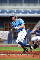 Charlotte Stone Crabs first baseman Mike Marjama (20) at bat during a game against the Dunedin Blue Jays on July 26, 2015 at Charlotte Sports Park in Port Charlotte, Florida.  Charlotte defeated Dunedin 2-1 in ten innings.  (Mike Janes/Four Seam Images)