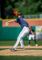 6 June 2021: New Hampshire Fisher Cats pitcher Fitz Stadler on the mound against the Binghamton Rumble Ponies at Northeast Delta Dental Stadium in Manchester, NH. The Rumble Ponies defeated the Fisher Cats 9-6 to close out their 6-game series. Mandatory Credit: Ed Wolfstein Photo *** RAW (NEF) Image File Available ***