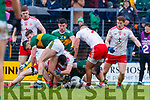 Kerry in action against  Tyrone during the Allianz Football League Division 1 Round 1 match between Kerry and Tyrone at Fitzgerald Stadium, Killarney on Sunday.
