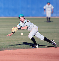 Kirby Pellant, Chandler-Gilbert Community College Coyotes in action against the South Mountain Community College Cougars,  at South Mountain CC, Phoenix, AZ - 02/11/2011. Pellant is the son of Chicago White Sox scout Gary Pellant.Photo by:  Bill Mitchell/Four Seam Images.